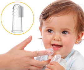 Детская зубная силиконовая щетка