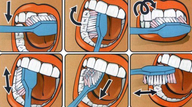 Инфографика как чистить молочные зубы