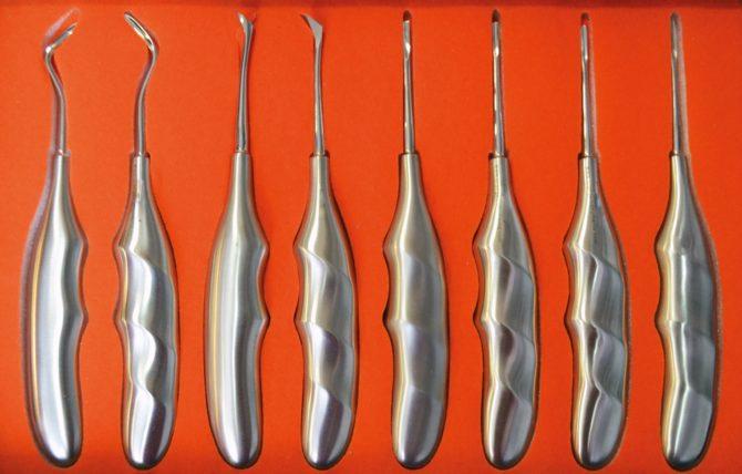 Инструменты для удаления зуба
