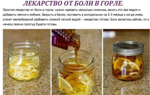 Лекарство от боли в горле на основе меда