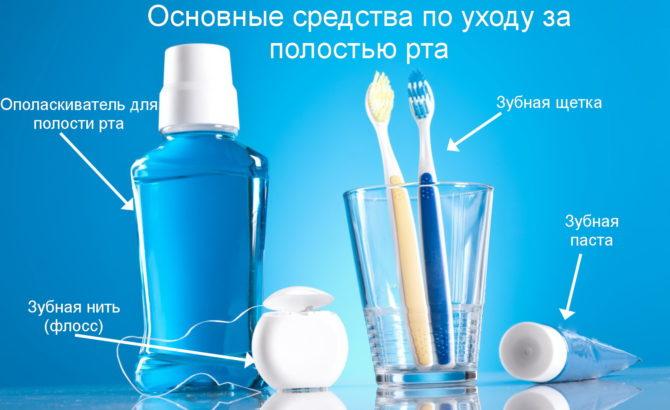 Основные средства, необходимые для соблюдения гигиены полости рта