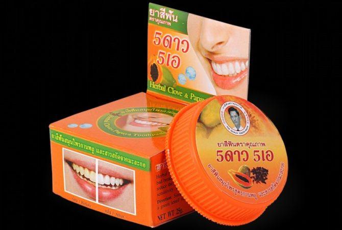 Осветляющая зубная паста из Тайланда