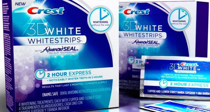 Отбеливающие полоски Crest 3D White