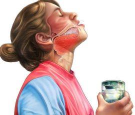 Полоскание рта раствором соды
