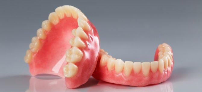 Съемныйпротез при полном отсутствии зубов