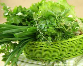 Свежая зелень от запаха чеснока